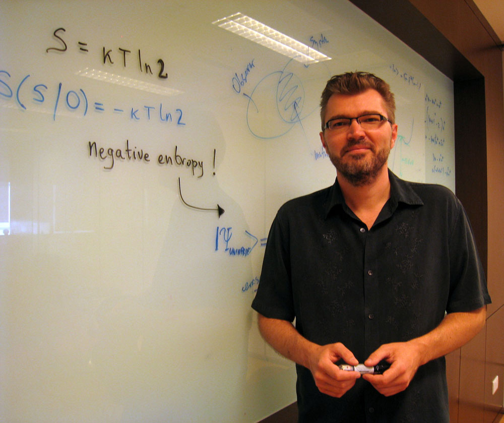 Photo of Professor Vlatko Vedral at the Centre for Quantum Technologies in Singapore