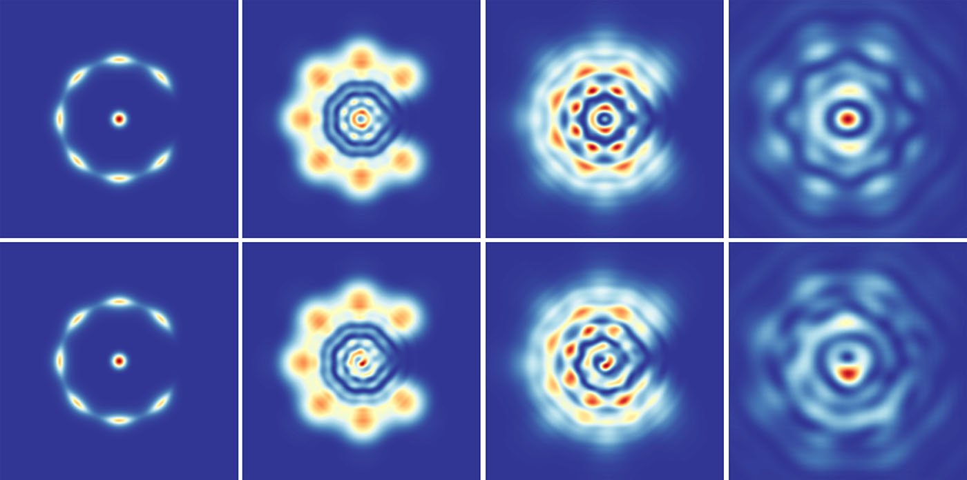 Images from computer simulation of cold atoms in a ring
