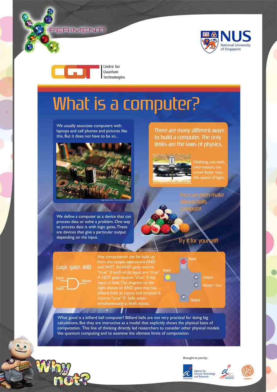 CQT Xperiment poster: What is a computer?
