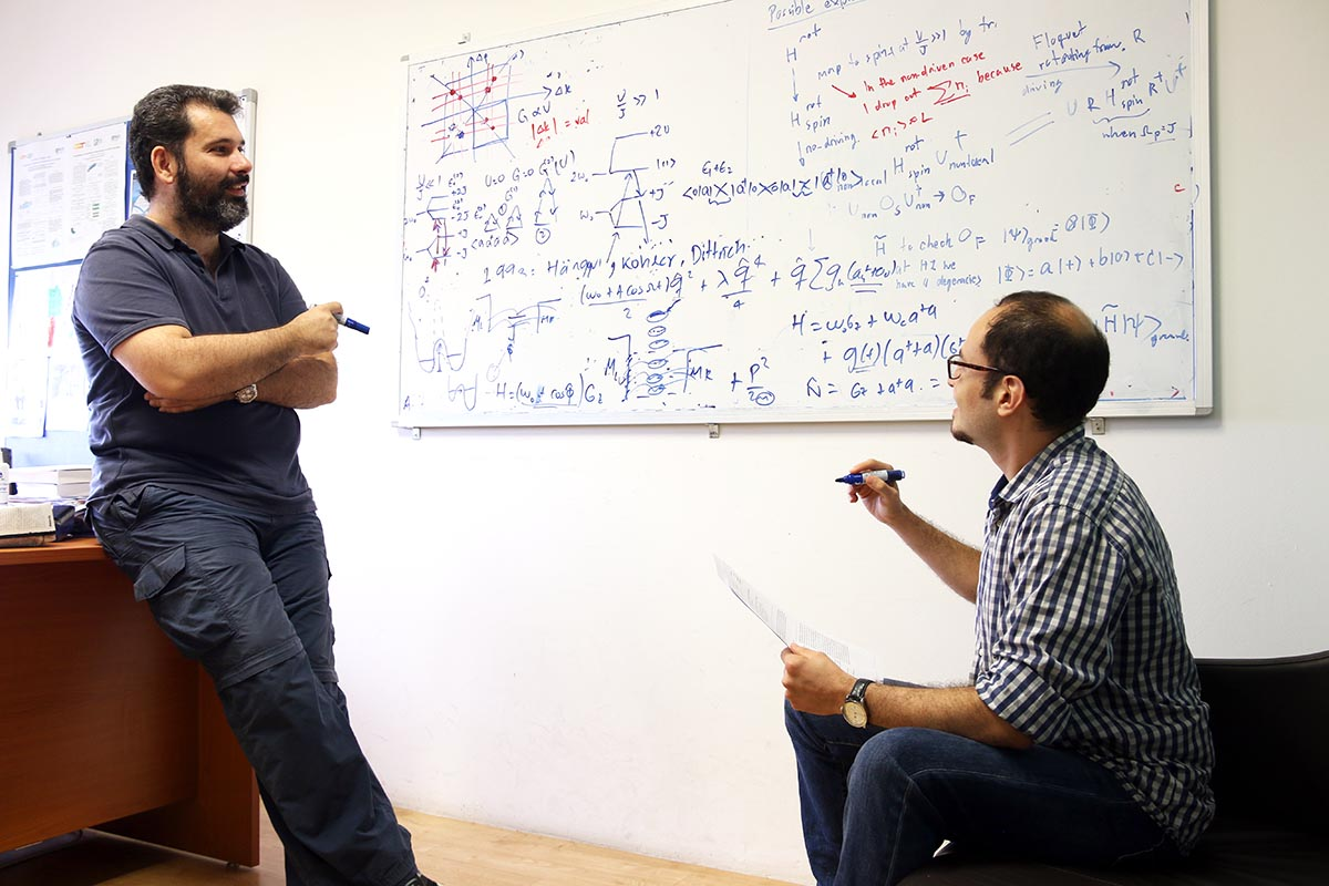 Dimitris Angelaki and Victor Bastidas at the Centre for Quantum Technologies, Singapore