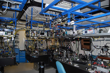 Photo from the Microtraps lab at the Centre for Quantum Technologies in Singapore.