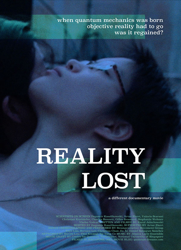 Poster for Reality Lost, a different documentary movie.