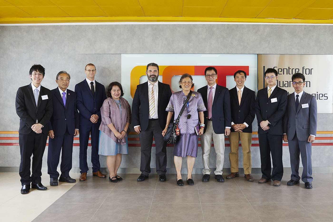 HRH Princess Sirindhorn visits the Centre for Quantum Technologies, Singapore