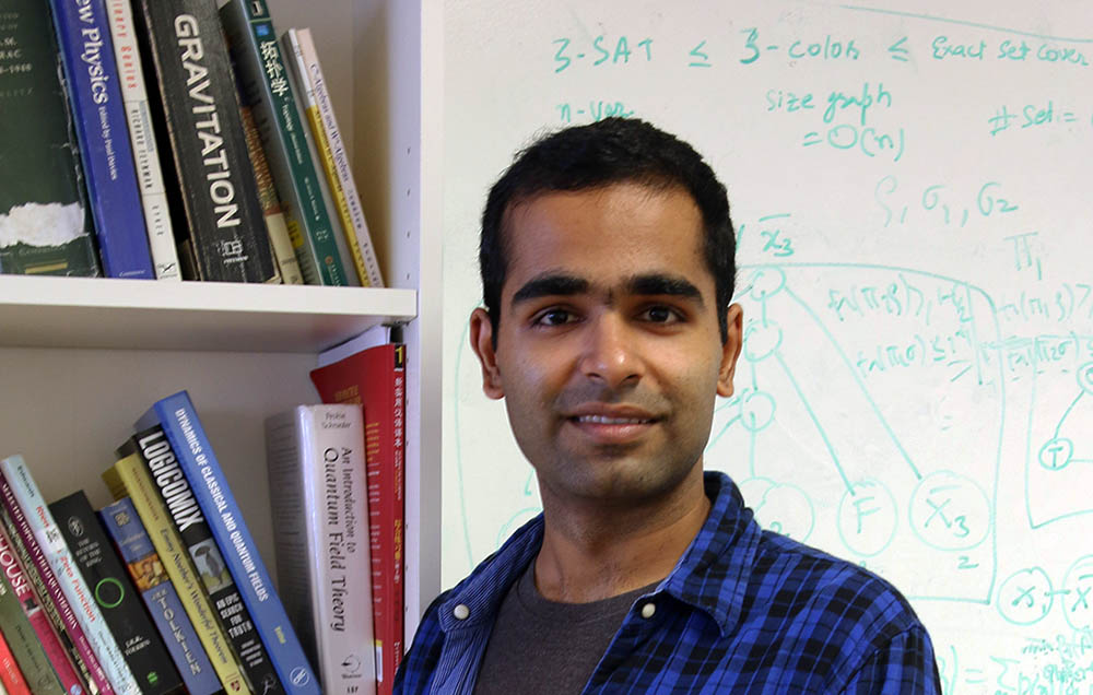 PhD student Anurag Anshu at the Centre for Quantum Technologies in Singapore