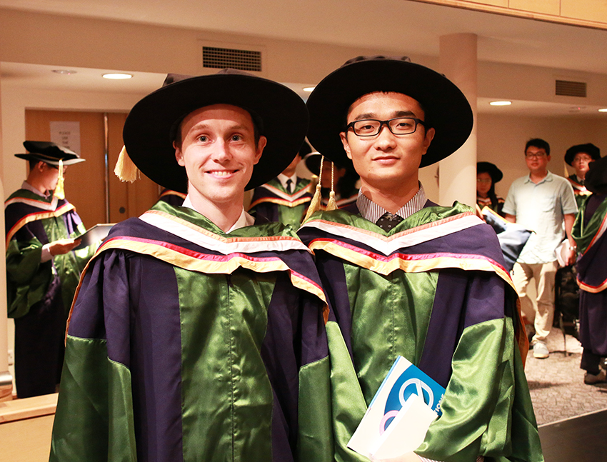 CQT Phd students at NUS commencement 2014