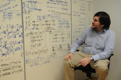 Picture of quantum researcher Joe Fitzsimons at the Centre for Quantum Technologies in Singapore.