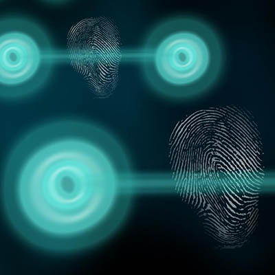 Artist's impression of 'fingerprinting' a quantum state