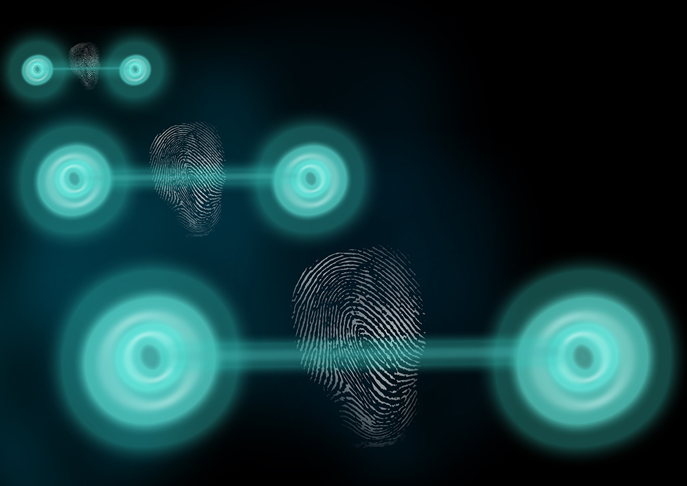 Artist's illustration of two-particle entangled states displaying a classical fingerprint