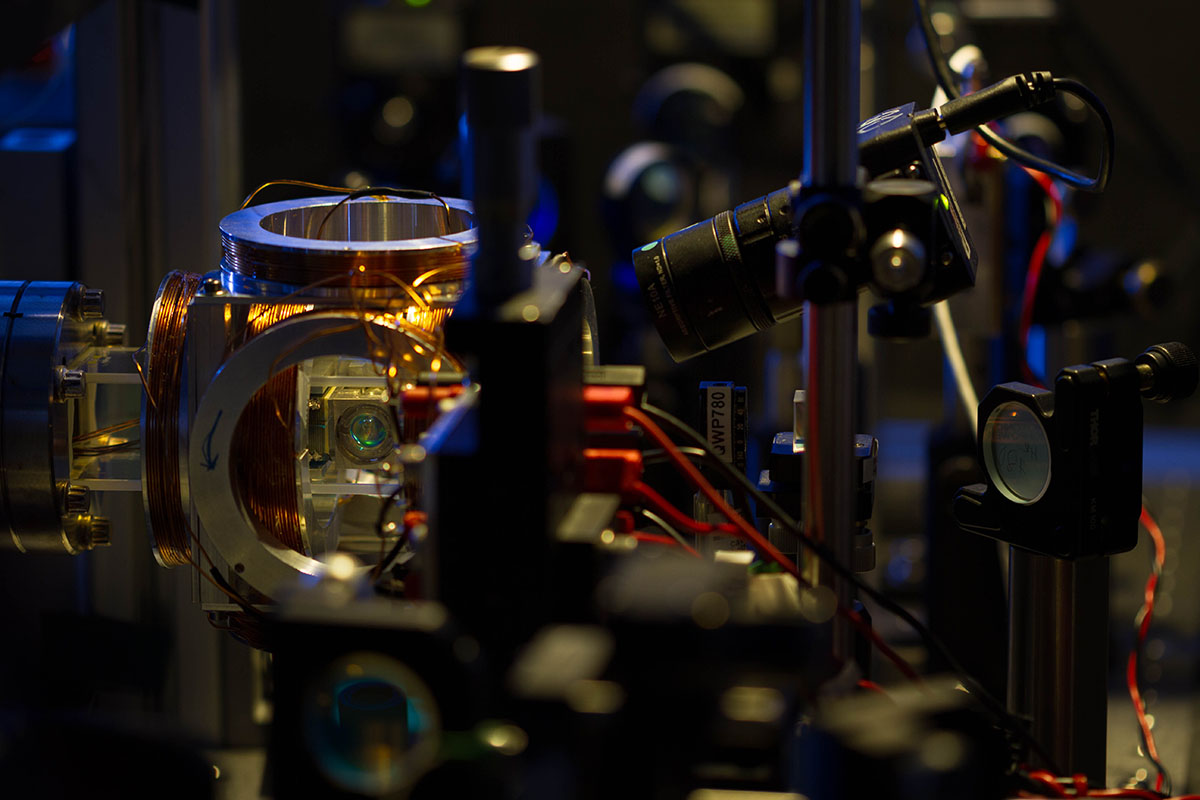 Photo of single-atom single-photon experiment at the Centre for Quantum Technologies in Singapore.