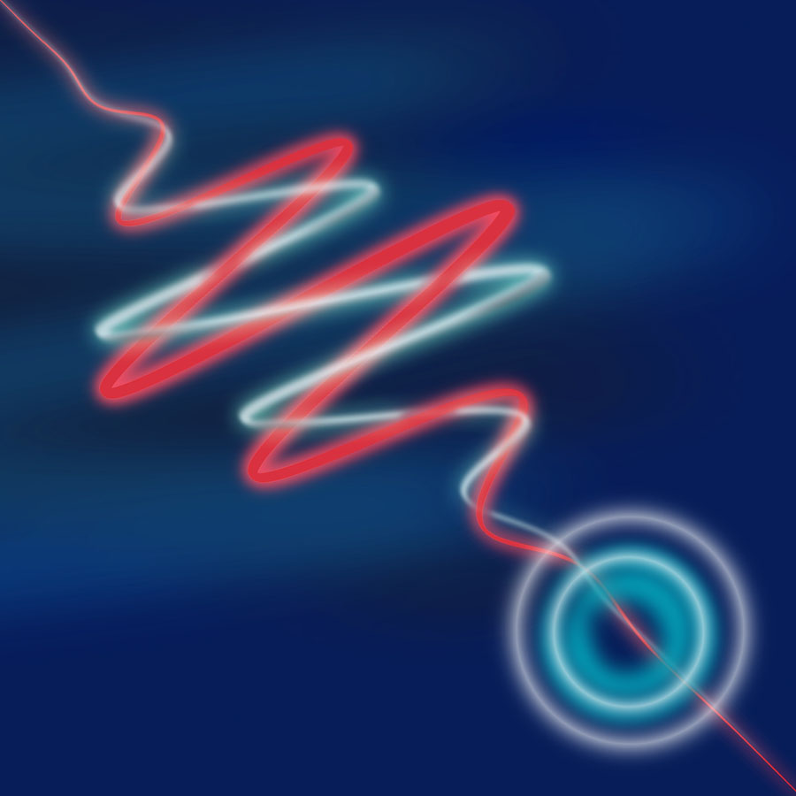 Artist illustration of wave-particle duality
