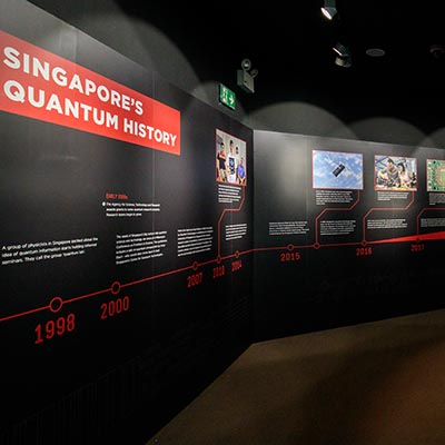 Photo from Quantum:The Exhibition at Singapore Science Centre