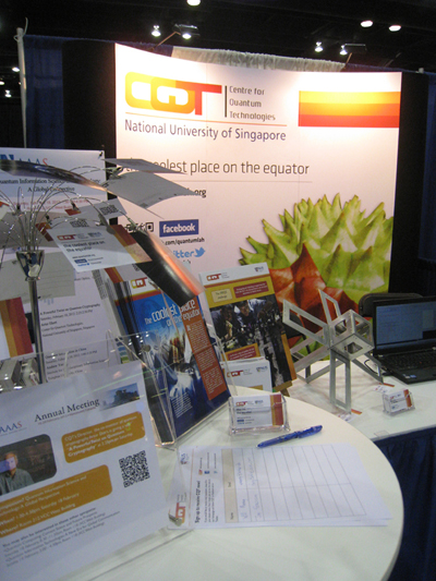 The Centre for Quantum Technologies exhibiting at the 2012 AAAS Annual Meeting.