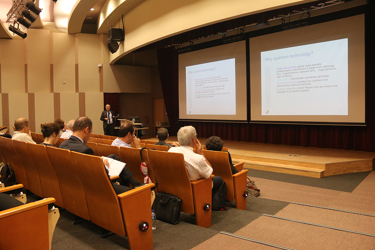Paul Indelicato speaks at the Quantum Engineering Science and Technologies Symposium (QuESTS) in Singapore 2016
