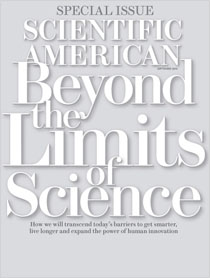 Scientific American special issue cover design, September 2012.