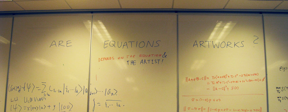 Are equations artworks?