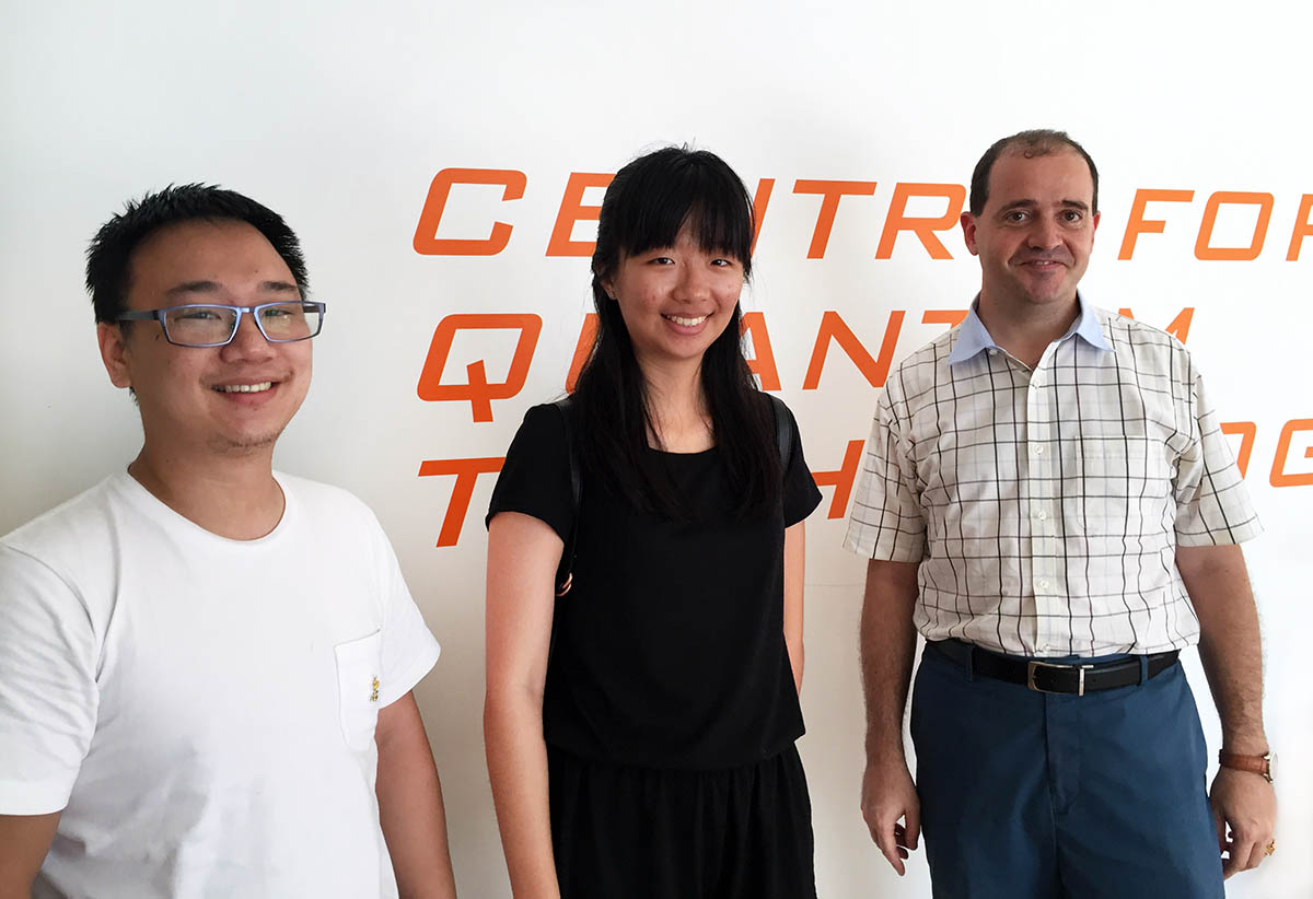 Researchers at the Centre for Quantum Technologies, Singapore.