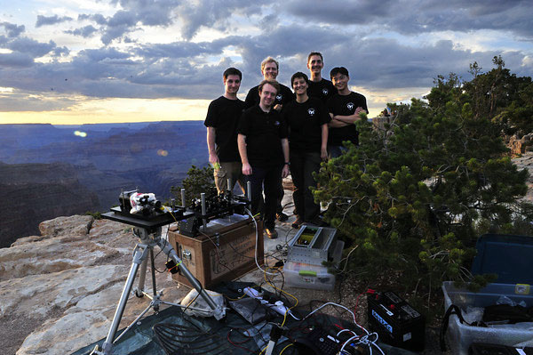 CQT Quantum Optics team at Grand Canyon